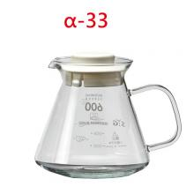 BHG605S-W 605cc咖啡壺-白(玻把)