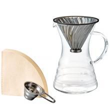 V60白金金屬濾杯咖啡壺組 VPD-02HSV
